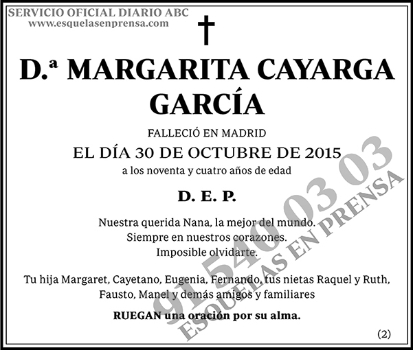 Margarita Cayarga García